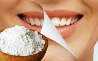 Чистка зубов с содой