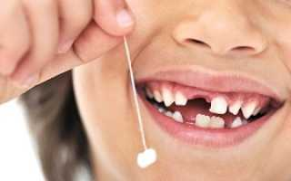 График смены зубов